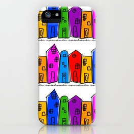 Rowhouse Romance iPhone Case
