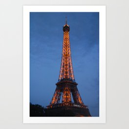 The City of Lights Art Print
