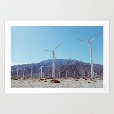 Palm Springs Windmills XI Art Print