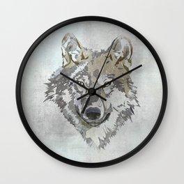 Wolf Head Illustration Wall Clock