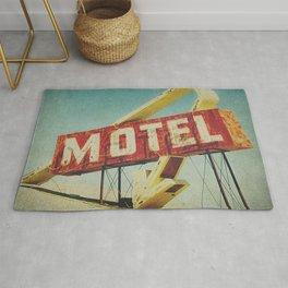 Thrashed Motel Sign Rug