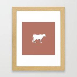 Cow: Rust Red Framed Art Print