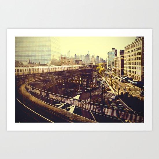 Queens Row Art Print