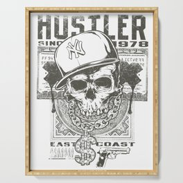 Hustler Skull Serving Tray