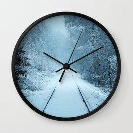 animals christmas cold Wall Clock