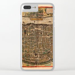 Map Of Cologne 1572 Clear iPhone Case