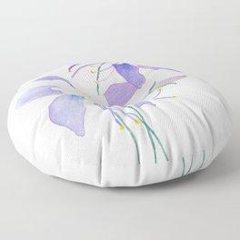 purple columbine flower Floor Pillow