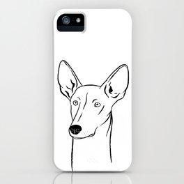 Ibizan Hound (Black and White) iPhone Case