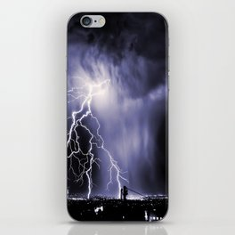 Lightning and Rain Funnel iPhone Skin