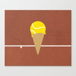 Tennis Ice Cream Canvas Print