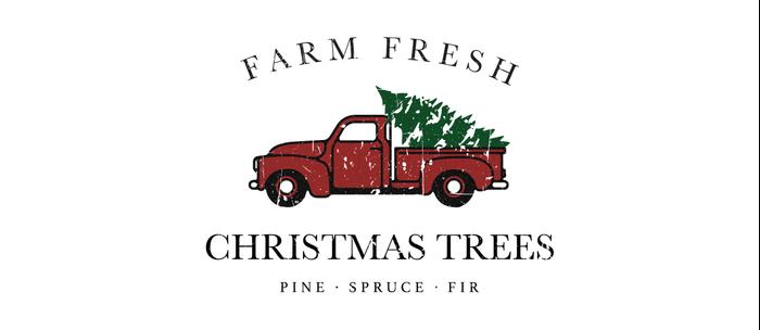 Christmas Tree Farm Vintage Truck Coffee Mug