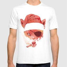 Bad Santa Fox White Mens Fitted Tee MEDIUM