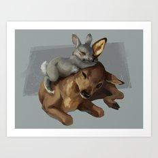 Bambi and Thumper Art Print