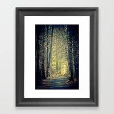 Licht am Ende des Weges Framed Art Print