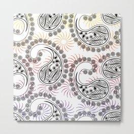 Funky Pinwheel Paisley Design Metal Print