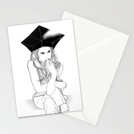 Sitting and Staring - Digital Illustration Stationery Cards