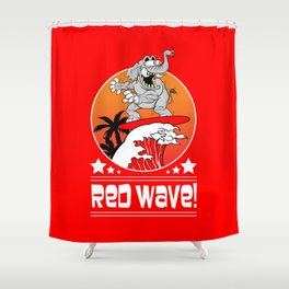 Republican Elephant Red Wave Midterm Vote 2018 Shower Curtain