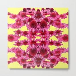 STRAWBERRY ECHINACEA FLOWERS GARDEN DESIGN Metal Print