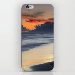 Magic red clouds. Sea dreams iPhone Skin