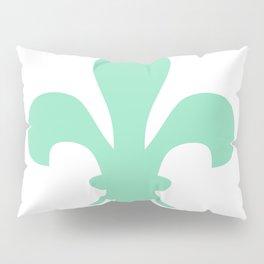Fleur de Lis (Mint & White) Pillow Sham