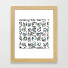 Retro Echosquares Framed Art Print
