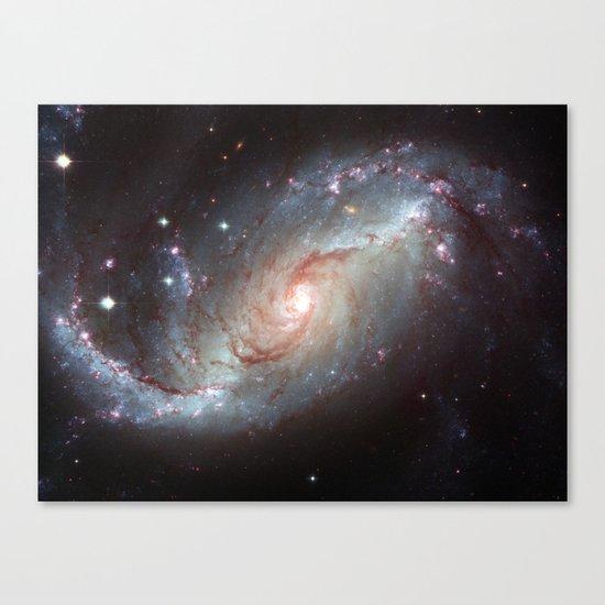 Barred spiral galaxy Canvas Print