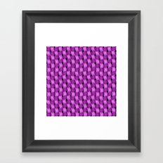 Woven Purple - Pattern Painting Framed Art Print