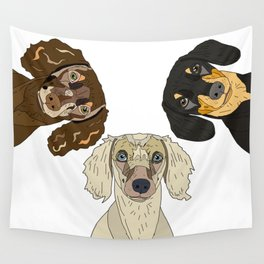 Triple Doxies Wall Tapestry