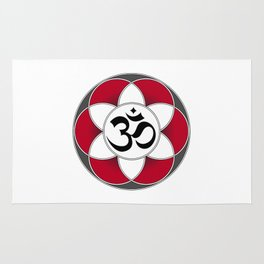 Om Seed of Life Red Rug