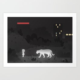The Child and the Tiger Art Print