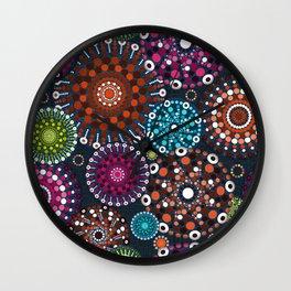 Mandala Dots Wall Clock