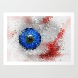 Blue Eye Paint Art Print