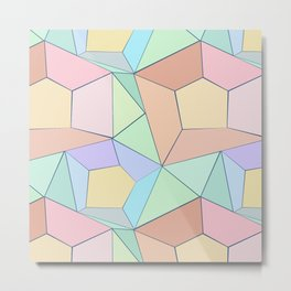Polygonal multi-color pattern. Metal Print