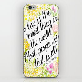 To Live Is the Rarest Thing iPhone Skin