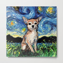 Chihuahua Night Metal Print