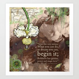 Begin it... Art Print
