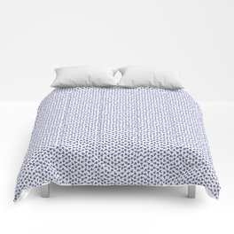 Forget Me Nots - Blue on White Comforters