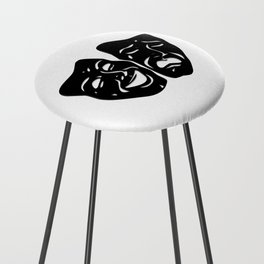 Theater Masks of Comedy and Tragedy Counter Stool