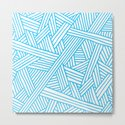 Abstract Teal & white Lines and Triangles Pattern-Mix and Match with Simplicity of Life by simplicity_of_live