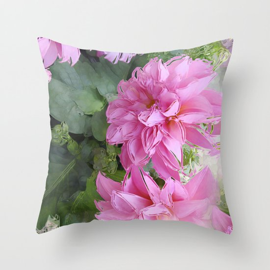 Delicious Dahlia's Throw Pillow