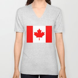 The National Flag of Canada, Authentic color and 3:5 scale version  Unisex V-Neck
