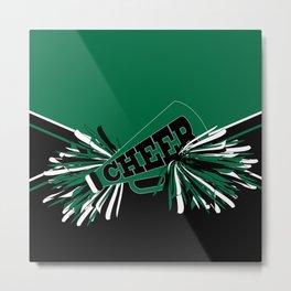 Dark Green Cheerleader Metal Print