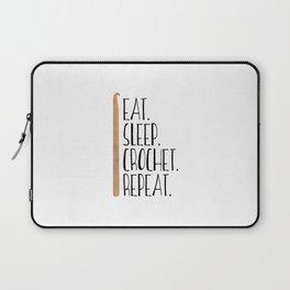 Eat Sleep Crochet Repeat Laptop Sleeve