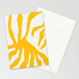 Golden Yellow Print. Abstract Yellow Print. Bright Watercolor Print. Yellow Wall Art. Yellow Paintin Stationery Cards