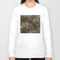 jay fleck Long Sleeve T-shirts featuring Fleck Tarn Camoflauge  by Derek Boman