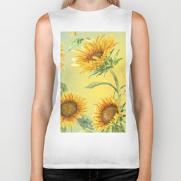 Sunflowers 2 Biker Tank