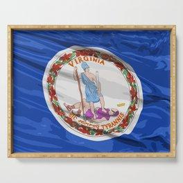 Virginia Fancy Flag Serving Tray