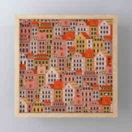 German City Framed Mini Art Print
