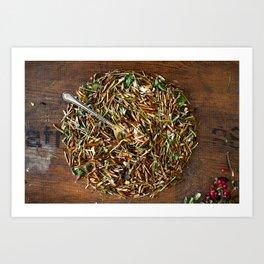 Herbal dish Art Print