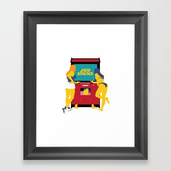Joy Sticks Framed Art Print